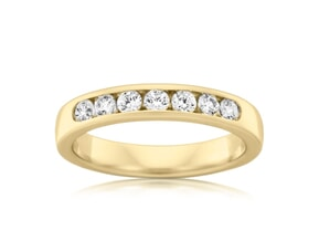 Wedding Band-18k Yellow Gold